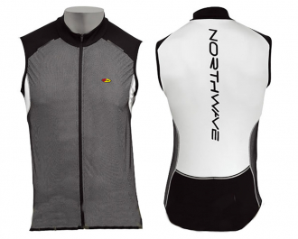 Веломайка - Northwave BLADE Vest Black/White sleeveless