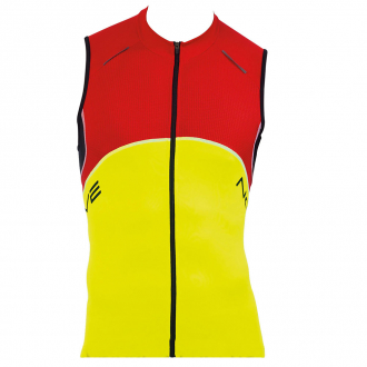 Веломайка - Northwave Blade Jersey yellow/red/black sleeveless