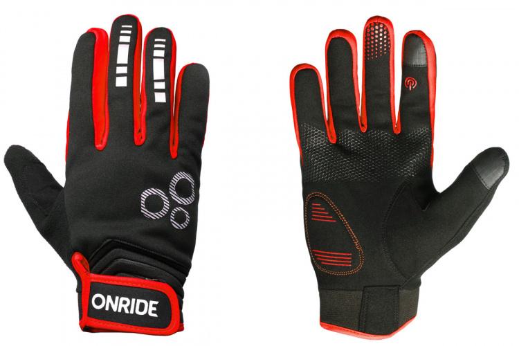 Велоперчатки осенние Onride Pleasure 20 черно-красные