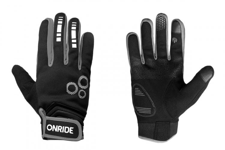 Велоперчатки осенние Onride Pleasure 20 черно-серые