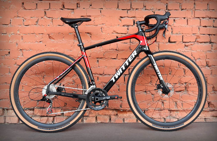 "Велосипед 28"" Twitter Gravel Carbon RS-22S Black-Red (2021)"