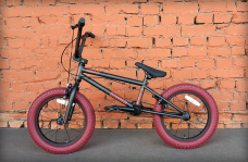 "Велосипед BMX 16"" Stolen AGENT 2020 MATTE RAW SILVER W/ RED TIRED (трюковый велосипед)"