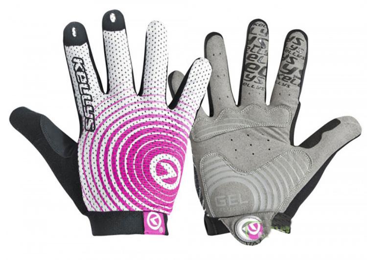 Велоперчатки KLS Instinct Long бело-розовые
