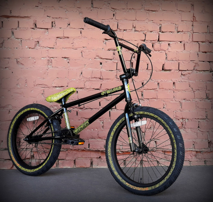 Велосипед BMX - Stolen Overlord (2020) BLACK/ REFLECTIVE YELLOW